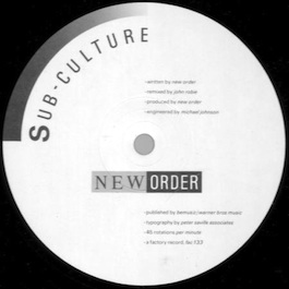 FAC 133 NEW ORDER Sub-culture