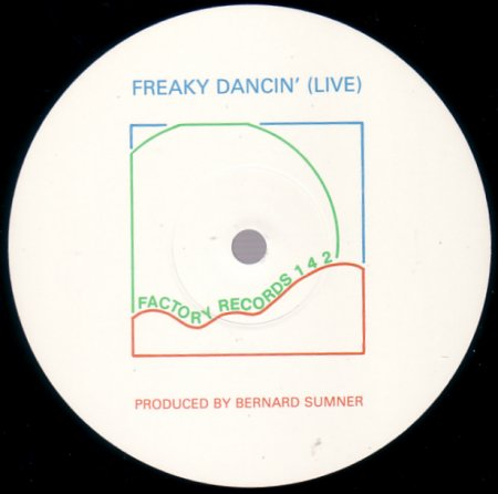 FAC 142 Freaky Dancing; label detail