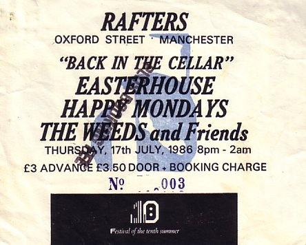 FAC 151 The Festival of the Tenth Summer - The Tenth Event; Back In The Cellar; ticket front detail