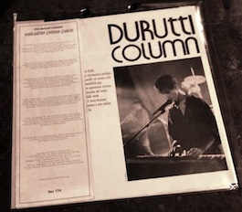 FAC 174 THE DURUTTI COLUMN 'Valuable' Press Pack