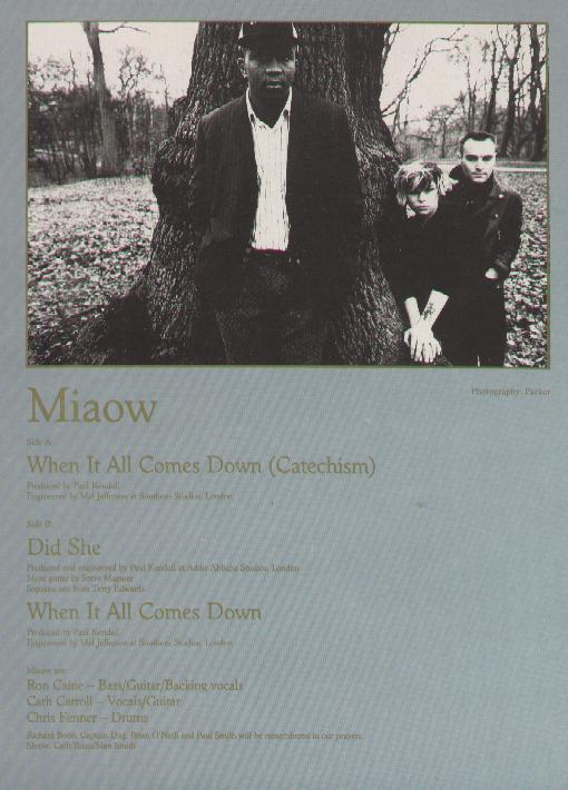 FAC 179 When It All Comes Down, 12-inch single