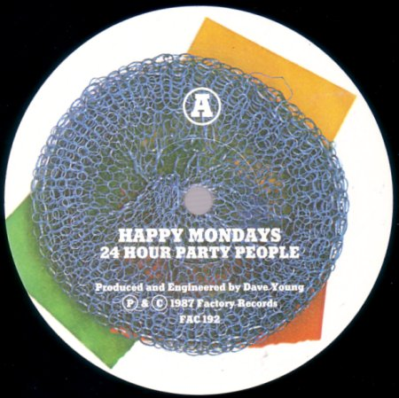 FAC 192 24 Hour Party People; label detail