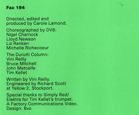 FAC 194 When The World; back cover credits detail