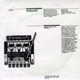 FAC 214 THE DURUTTI COLUMN The Guitar And Other Marketing Devices