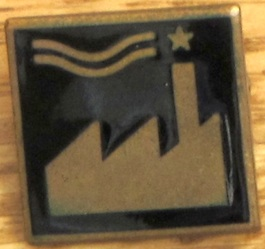 FAC 221 'Factory goes to Hollywood' badge