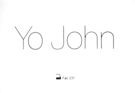 FAC 231 'Yo John' (Music Week)
