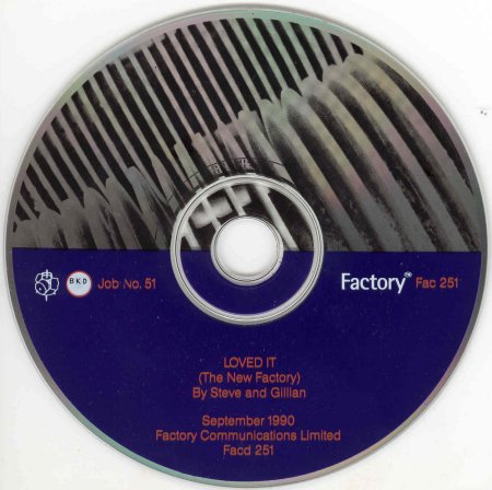 Factory Records: FACD 251 STEVE AND GILLIAN Loved It (The New Factory)