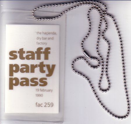 FAC 259 Staff party pass; pass detail
