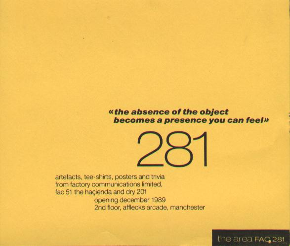 FAC 281 The Area flyer