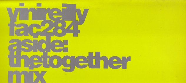 FAC 284 The Together Mix; front cover detail