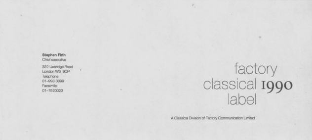 Factory Classical compliments slip