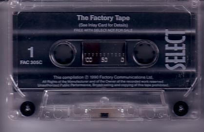 FAC 305c The Factory Tape; detail of cassette tape