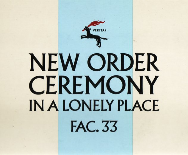 FAC 33 Ceremony; cream / blue sleeve front cover detail