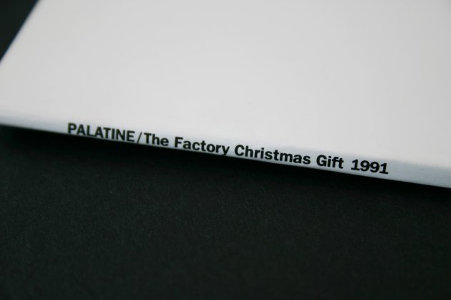 FAC 345 PALATINE / The Factory Christmas Gift 1991; spine detail showing title