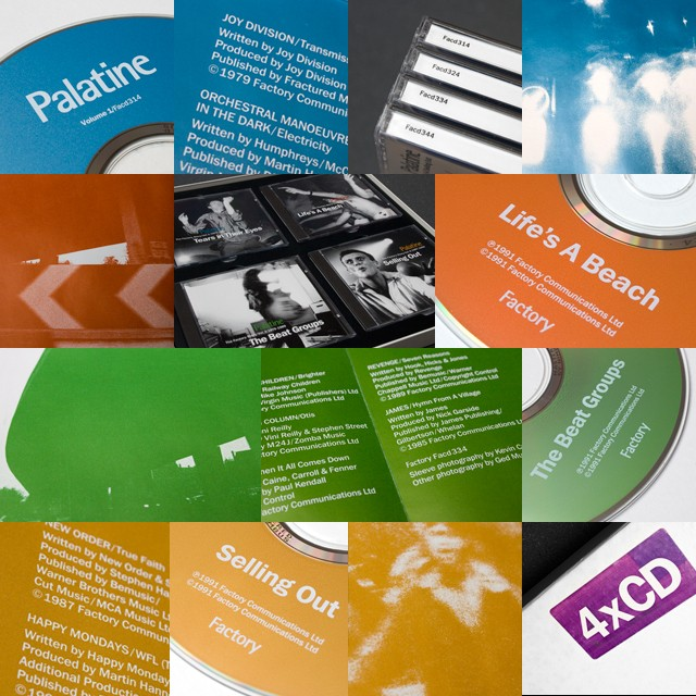 FACT 400 Palatine / The Factory Story / 1979-1990 - Details of discs, sleeve art, CDs in situ [in box]