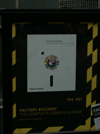 FAC 461 Factory Records: The Complete Graphic Album; book launch at Central Saint Martins, 19 June 2006 - poster