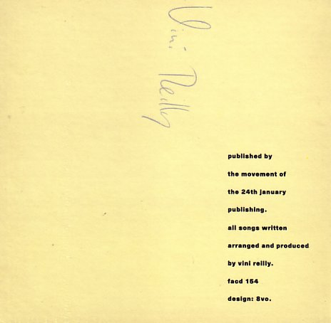 FACD 154 Circuses and Bread; insert detail including Vini Reilly autograph
