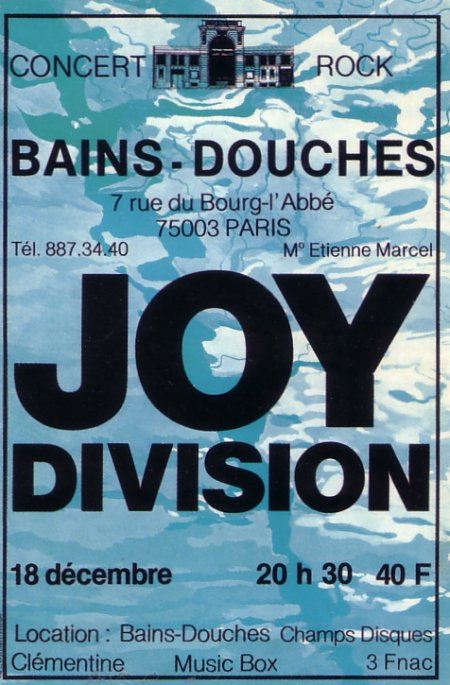 FACD 2.61 Les Bains Douches 18 Dec 1979; insert detail - original gig poster