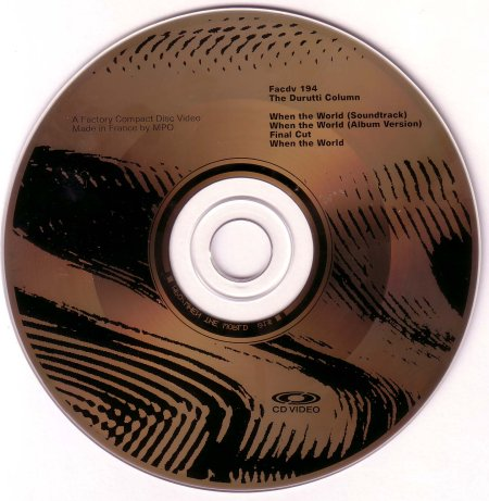 FACDV 194 When The World CD Video; CD Video detail