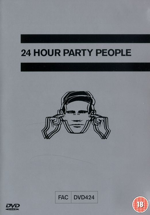FACDVD 424 - 24 Hour Party People UK retail dvd front cover detail