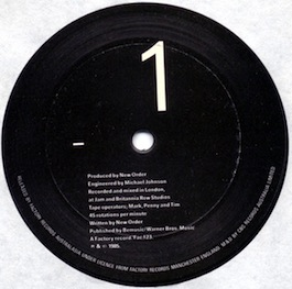 FAC 123 NEW ORDER The Perfect Kiss