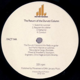 FACT 14 THE DURUTTI COLUMN The Return Of The Durutti Column