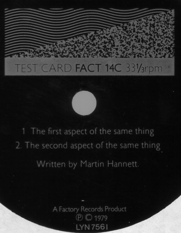 FACT 14c Testcard by Martin Hannett; detail of FACT 14c flexidisc