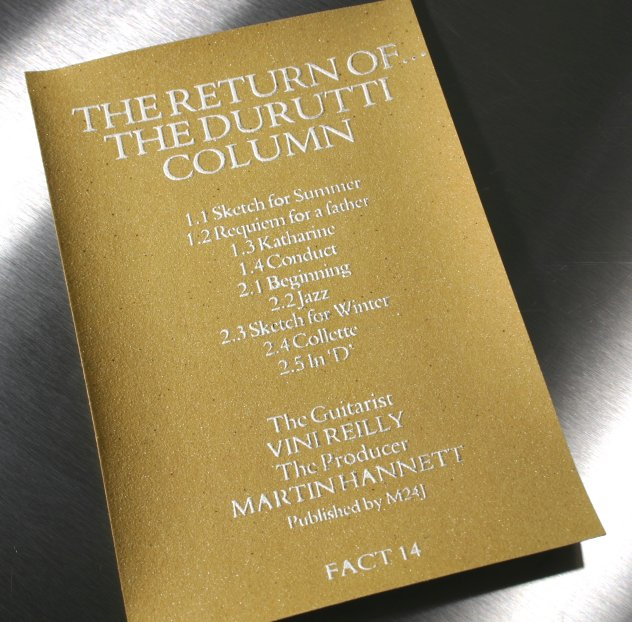 FACT 14c The Return of The Durutti Column; sandpaper insert front detail
