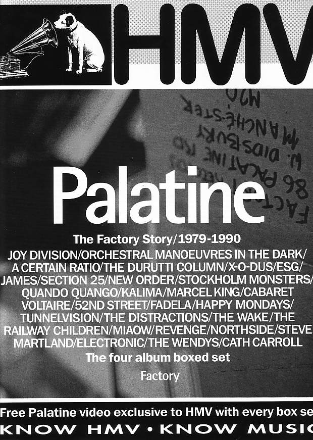 FACT 400 Palatine - full page HMV advertisement for Palatine including details of the free video
