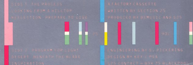 FACT 90c From the Hip; detail from reverse of inlay card