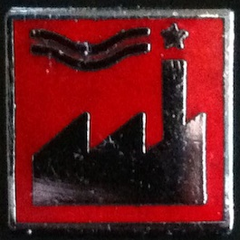 FACUS 21 CHRISTIANE MATHAN Factory US Logo Badge