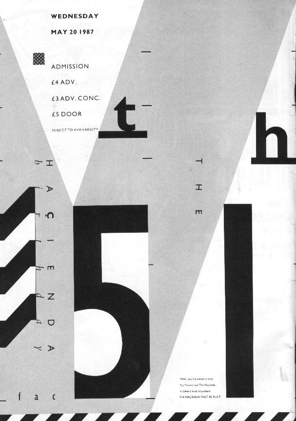 FAC 51 The Hacienda Fifth Birthday b&w press advert