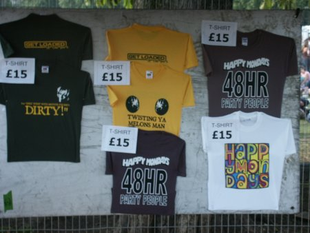 Get Loaded In The Park; Get Loaded / Happy Mondays T-shirt selection
