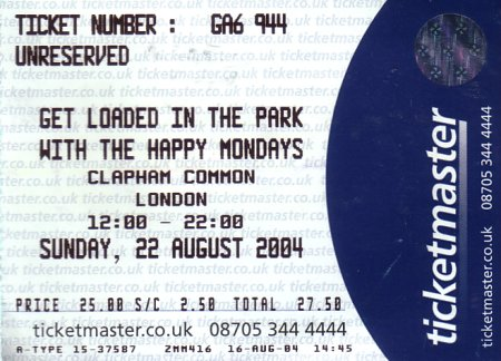 Get Loaded In The Park; ticket