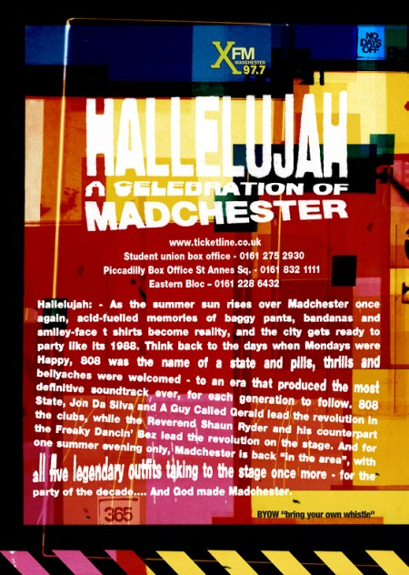 FAC 471 - A Celebration of Madchester, Manchester Academy 1, Saturday 13 May 2006; flyer detail [back]