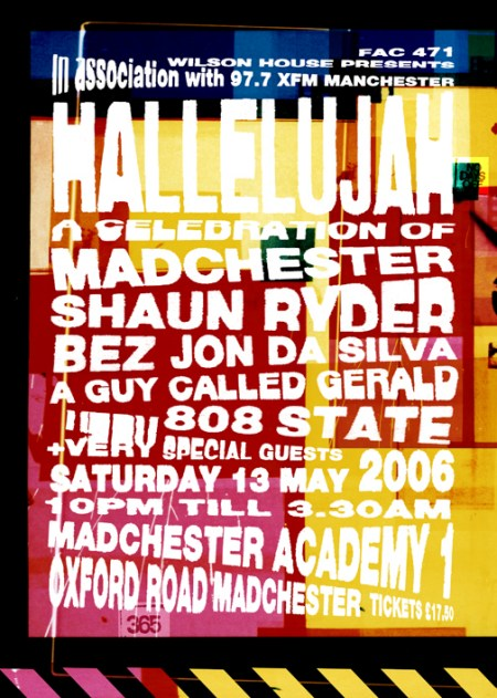 FAC 471 - A Celebration of Madchester, Manchester Academy 1, Saturday 13 May 2006; flyer detail [front]