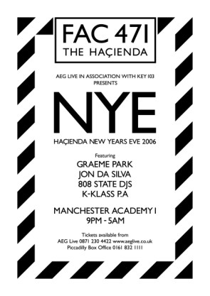Hacienda New Year's Eve 2006, Manchester Academy 1, 31 December 2006; flyer 2 detail