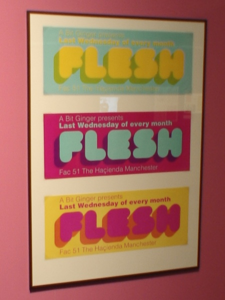 Hacienda 25: The Exhibition - FAC 491; Flesh poster