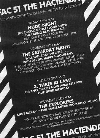 Advert in NME for FAC 51 The Hacienda
