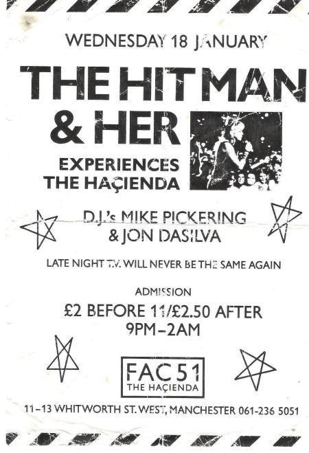 FAC 51 The Hacienda - The Hitman and Her Experiences The Hacienda; flyer