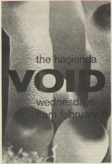 Flyer for Void night at the Hacienda