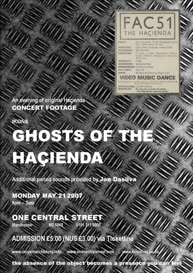 Ghosts of the Hacienda; flyer