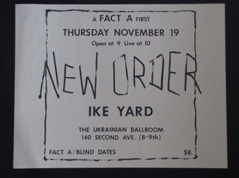 A FACT A FIRST New Order Ike Yard poster