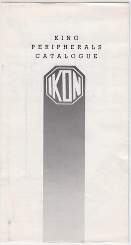 IKON Kino Peripherals Catalogue