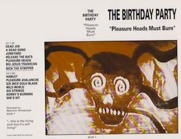 Factory Records: THE BIRTHDAY PARTY