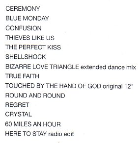 International; detail of tracklisting