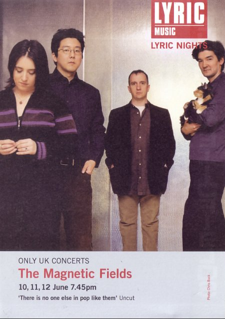 The Magnetic Fields - Live at the Lyric, Hammersmith, London 10-12 June 2004