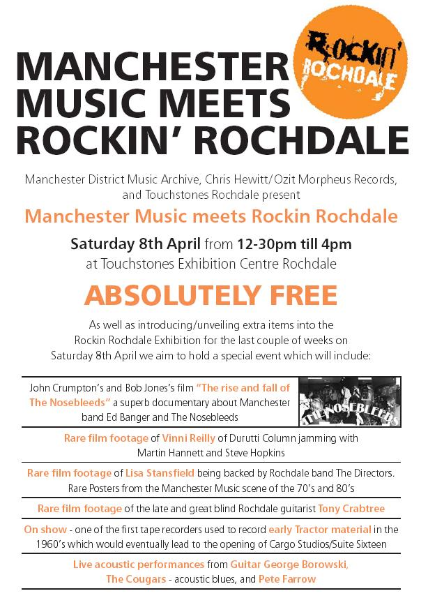 Manchester Music Meets Rockin' Rochdale, Sat 8 April 2006; flyer detail