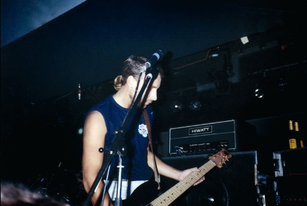 New Order live at FAC 51 The Hacienda 1983-85 - Hooky; [photo credit: Tim Sinclair]