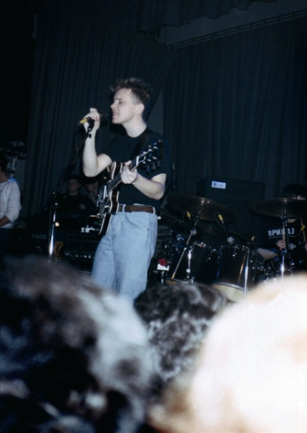 New Order live at Salford University - Bernard Sumner; [photo credit: Tim Sinclair]